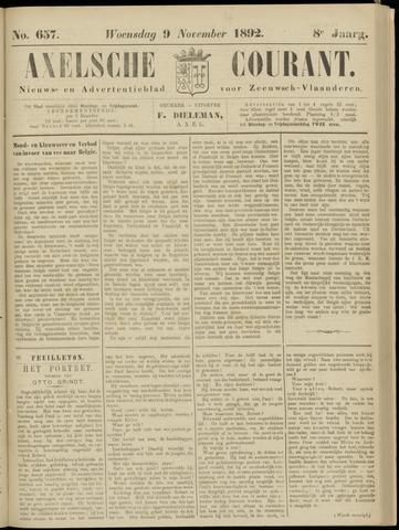 Axelsche Courant 1892-11-09