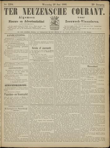 Ter Neuzensche Courant. Algemeen Nieuws- en Advertentieblad voor Zeeuwsch-Vlaanderen / Neuzensche Courant ... (idem) / (Algemeen) nieuws en advertentieblad voor Zeeuwsch-Vlaanderen 1886-06-30