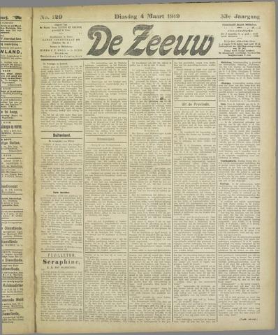 De Zeeuw. Christelijk-historisch nieuwsblad voor Zeeland 1919-03-04
