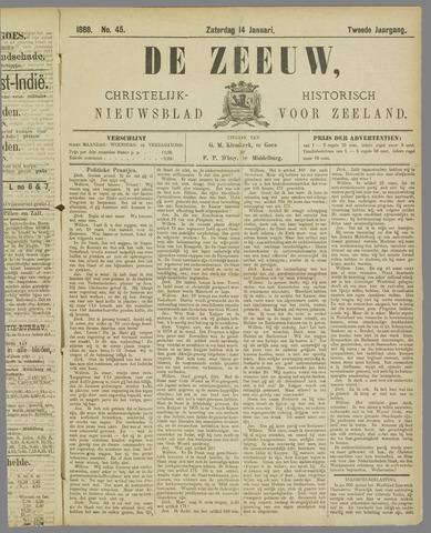 De Zeeuw. Christelijk-historisch nieuwsblad voor Zeeland 1888-01-14