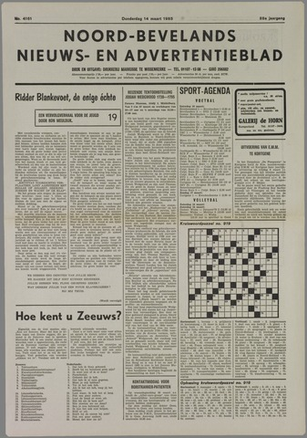 Noord-Bevelands Nieuws- en advertentieblad 1985-03-14