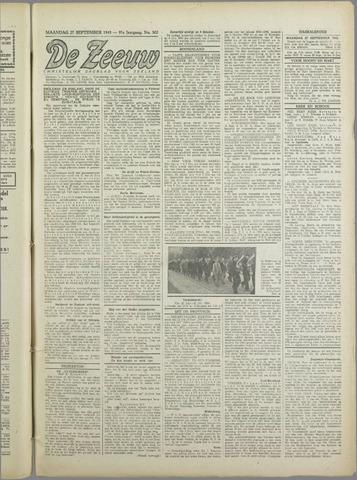 De Zeeuw. Christelijk-historisch nieuwsblad voor Zeeland 1943-09-27