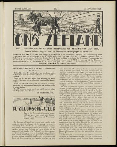 Ons Zeeland / Zeeuwsche editie 1928-11-10