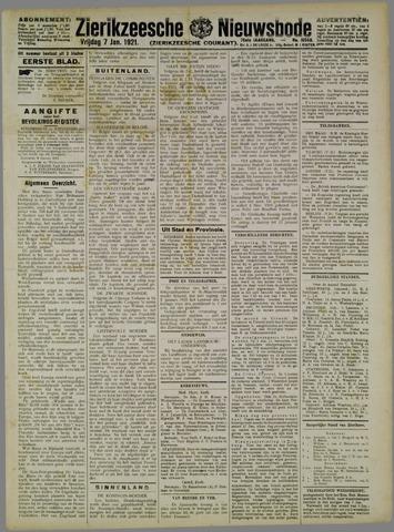 Zierikzeesche Nieuwsbode 1921-01-07