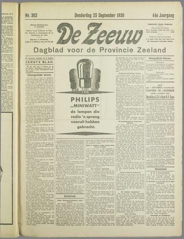 De Zeeuw. Christelijk-historisch nieuwsblad voor Zeeland 1930-09-25