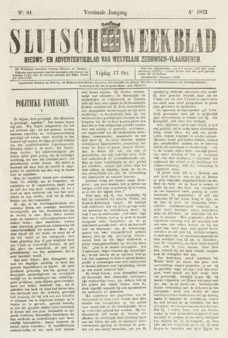 Sluisch Weekblad. Nieuws- en advertentieblad voor Westelijk Zeeuwsch-Vlaanderen 1873-10-17