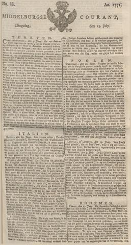 Middelburgsche Courant 1771-07-23