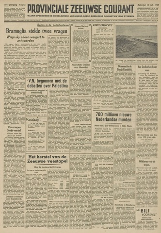 Provinciale Zeeuwse Courant 1948-10-16