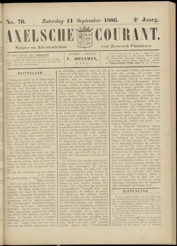 Axelsche Courant 1886-09-11