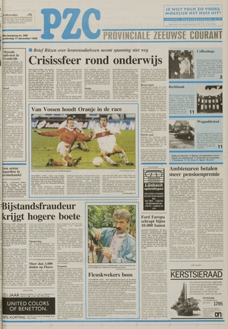 Provinciale Zeeuwse Courant 1992-12-17