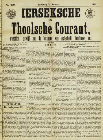 Ierseksche en Thoolsche Courant 1891-01-31