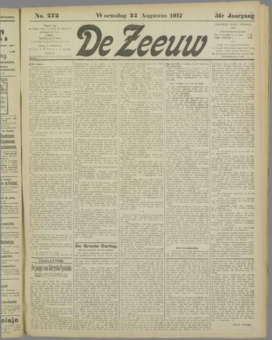 De Zeeuw. Christelijk-historisch nieuwsblad voor Zeeland 1917-08-22