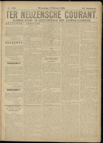 Ter Neuzensche Courant. Algemeen Nieuws- en Advertentieblad voor Zeeuwsch-Vlaanderen / Neuzensche Courant ... (idem) / (Algemeen) nieuws en advertentieblad voor Zeeuwsch-Vlaanderen 1924-02-06