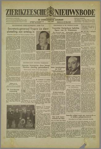 Zierikzeesche Nieuwsbode 1952-11-12