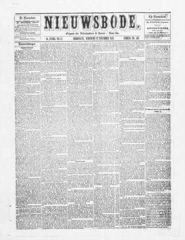 Sheboygan Nieuwsbode 1859-11-23