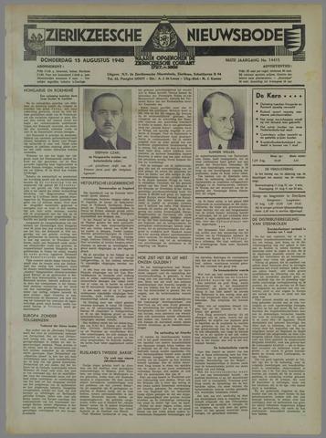 Zierikzeesche Nieuwsbode 1940-08-15