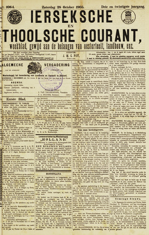 Ierseksche en Thoolsche Courant 1905-10-28
