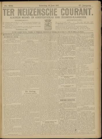 Ter Neuzensche Courant. Algemeen Nieuws- en Advertentieblad voor Zeeuwsch-Vlaanderen / Neuzensche Courant ... (idem) / (Algemeen) nieuws en advertentieblad voor Zeeuwsch-Vlaanderen 1917-06-16
