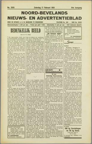 Noord-Bevelands Nieuws- en advertentieblad 1951-02-17