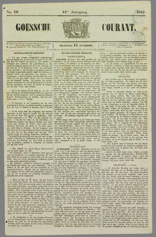 Goessche Courant 1857-10-12