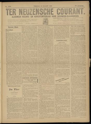Ter Neuzensche Courant. Algemeen Nieuws- en Advertentieblad voor Zeeuwsch-Vlaanderen / Neuzensche Courant ... (idem) / (Algemeen) nieuws en advertentieblad voor Zeeuwsch-Vlaanderen 1933-03-24