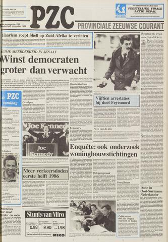 Provinciale Zeeuwse Courant 1986-11-06