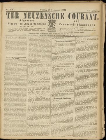 Ter Neuzensche Courant. Algemeen Nieuws- en Advertentieblad voor Zeeuwsch-Vlaanderen / Neuzensche Courant ... (idem) / (Algemeen) nieuws en advertentieblad voor Zeeuwsch-Vlaanderen 1904-09-20