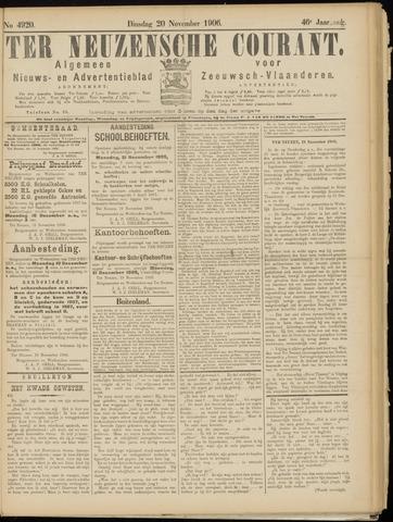 Ter Neuzensche Courant. Algemeen Nieuws- en Advertentieblad voor Zeeuwsch-Vlaanderen / Neuzensche Courant ... (idem) / (Algemeen) nieuws en advertentieblad voor Zeeuwsch-Vlaanderen 1906-11-20