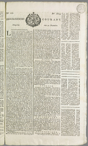 Zierikzeesche Courant 1814-12-20