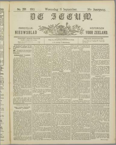 De Zeeuw. Christelijk-historisch nieuwsblad voor Zeeland 1912-09-11