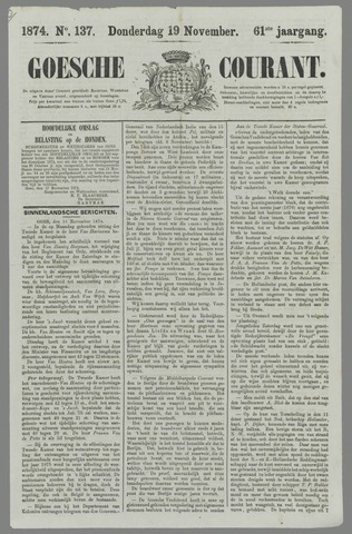 Goessche Courant 1874-11-19