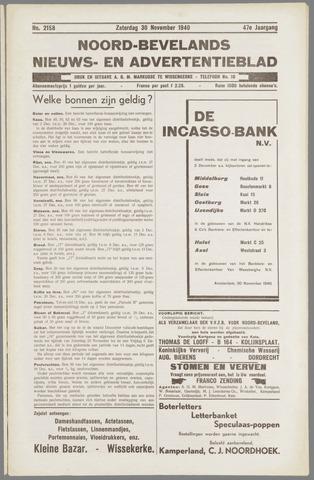 Noord-Bevelands Nieuws- en advertentieblad 1940-11-30