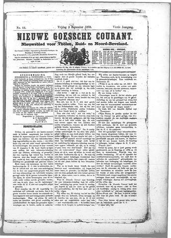 Nieuwe Goessche Courant 1869-09-03