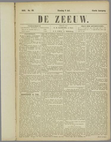 De Zeeuw. Christelijk-historisch nieuwsblad voor Zeeland 1890-07-08