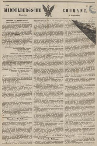 Middelburgsche Courant 1852-09-07