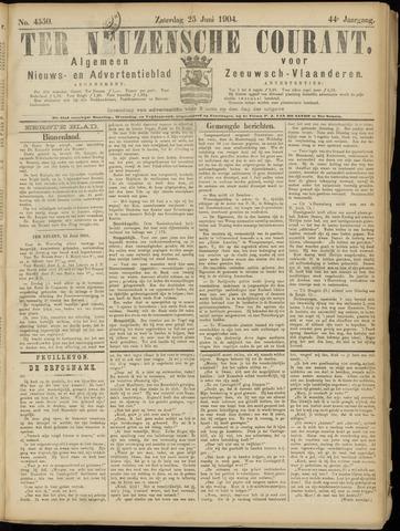 Ter Neuzensche Courant. Algemeen Nieuws- en Advertentieblad voor Zeeuwsch-Vlaanderen / Neuzensche Courant ... (idem) / (Algemeen) nieuws en advertentieblad voor Zeeuwsch-Vlaanderen 1904-06-25