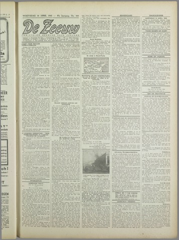 De Zeeuw. Christelijk-historisch nieuwsblad voor Zeeland 1943-04-14