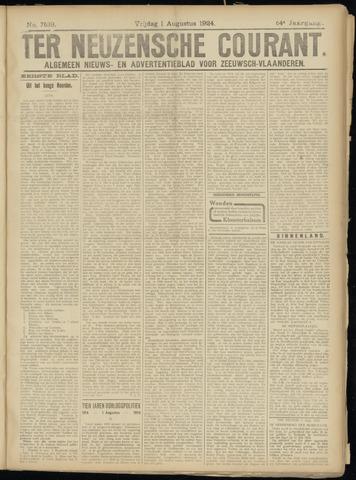 Ter Neuzensche Courant. Algemeen Nieuws- en Advertentieblad voor Zeeuwsch-Vlaanderen / Neuzensche Courant ... (idem) / (Algemeen) nieuws en advertentieblad voor Zeeuwsch-Vlaanderen 1924-08-01