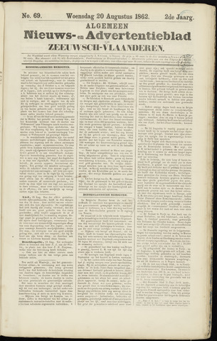 Ter Neuzensche Courant. Algemeen Nieuws- en Advertentieblad voor Zeeuwsch-Vlaanderen / Neuzensche Courant ... (idem) / (Algemeen) nieuws en advertentieblad voor Zeeuwsch-Vlaanderen 1862-08-20