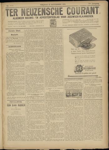 Ter Neuzensche Courant. Algemeen Nieuws- en Advertentieblad voor Zeeuwsch-Vlaanderen / Neuzensche Courant ... (idem) / (Algemeen) nieuws en advertentieblad voor Zeeuwsch-Vlaanderen 1931-11-27