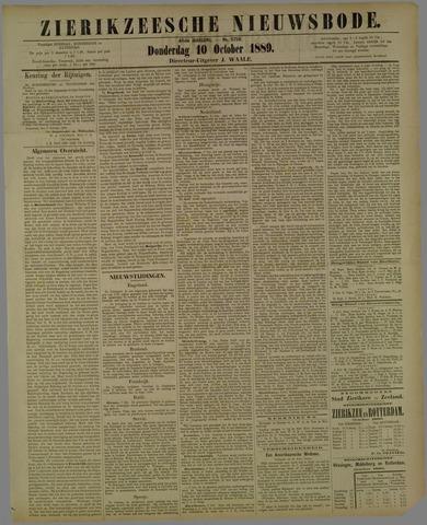 Zierikzeesche Nieuwsbode 1889-10-10