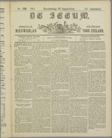 De Zeeuw. Christelijk-historisch nieuwsblad voor Zeeland 1912-09-19