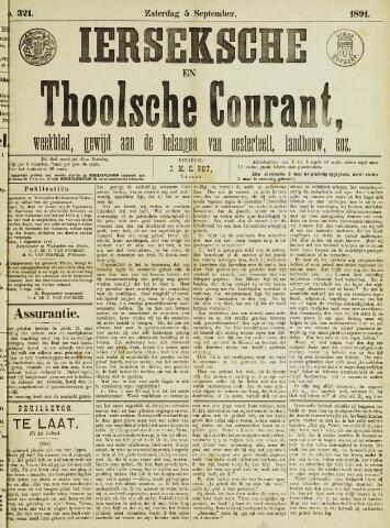 Ierseksche en Thoolsche Courant 1891-09-05