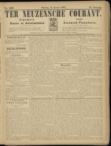 Ter Neuzensche Courant. Algemeen Nieuws- en Advertentieblad voor Zeeuwsch-Vlaanderen / Neuzensche Courant ... (idem) / (Algemeen) nieuws en advertentieblad voor Zeeuwsch-Vlaanderen 1897-01-12