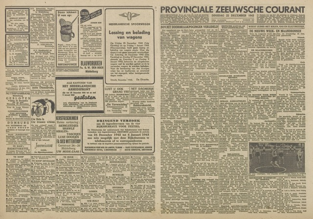 Provinciale Zeeuwse Courant 1942-12-22