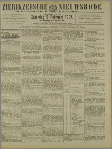 Zierikzeesche Nieuwsbode 1907-02-09