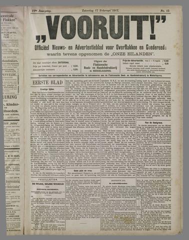"""""""Vooruit!""""Officieel Nieuws- en Advertentieblad voor Overflakkee en Goedereede 1917-02-17"""