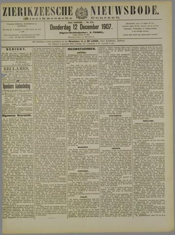 Zierikzeesche Nieuwsbode 1907-12-12