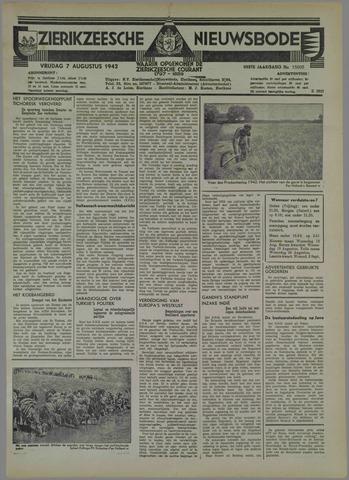 Zierikzeesche Nieuwsbode 1942-08-07