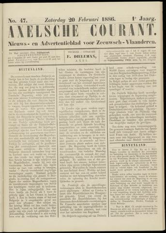 Axelsche Courant 1886-02-20